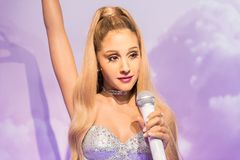 Ariana Grande, wax sculpture, Madame Tussaud stock photos