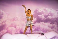 Ariana Grande-Wachsfigur, Amsterdam Madame-Tussauds stockfotos