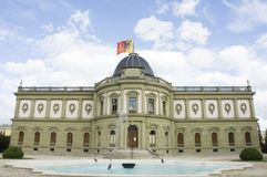 Ariana Museum - Geneva. The Ariana Museum, with its neoclassical and neo-baroque features, contains prestigious collections of ceramics and glass of the City of Royalty Free Stock Photos