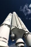 Ariane 5 ESA space-rocket. Ariane 5 ESA space rocket ready for take-off Stock Photos