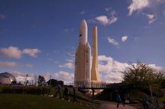Ariane 5 Ruimteschip in Toulouse stock afbeeldingen