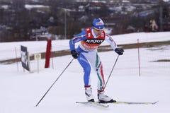 Arianna Follis - führender Querland-Skifahrer Stockfoto