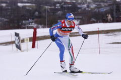 Arianna Follis - leading cross country skier Stock Photo