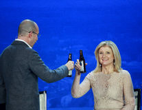 Arianna Huffington στη σύγκλιση της Microsoft Στοκ Εικόνα