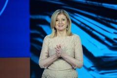 Arianna Huffington bij Microsoft-Convergentie royalty-vrije stock foto's