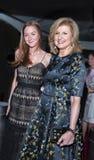 Arianna Huffington e hija Christina Huffington Fotografía de archivo