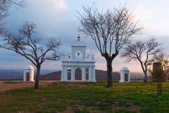 Arias Montano monument, in the village of Alajar, Huelva, Spain Stock Image