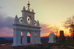 Arias Montano monument, in the village of Alajar, Huelva, Spain Stock Photo