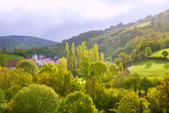 Aribe on Azcoa Valley of Pyrenees in Navarra Spain Royalty Free Stock Photography
