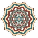 Aribic Kleurrijke Mandala Etnische stammenornamenten Stock Foto
