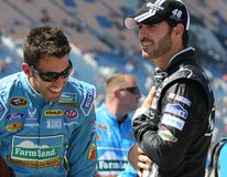 Aric Almirola i Jimmie Johnson fotografia royalty free