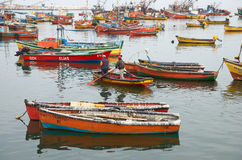 Arica Fishing Harbour Stock Image