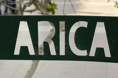 Arica stadtecken Arkivfoton