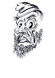 Aricature Ð ¡ van een mens met een baard Royalty-vrije Stock Afbeeldingen