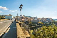 Ariccia, Italy - Little city of Castelli Romani, province of Rome. Hill city of Castelli Romani in metropolitan area of Rome, famous for the architectural works royalty free stock photos