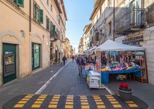 Ariccia, Italy - Little city of Castelli Romani, province of Rome. Hill city of Castelli Romani in metropolitan area of Rome, famous for the architectural works royalty free stock image
