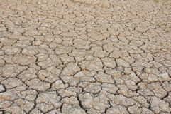 Arid areas. Arid no rain to parched soil. Not cultivable Stock Image
