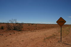 Arid Australian Outback Royalty Free Stock Photography