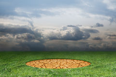 Arid circle. On a green glade Royalty Free Stock Photos