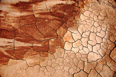 ARID CRACKED EARTH. Ground conditions after the dry season to visit Stock Images
