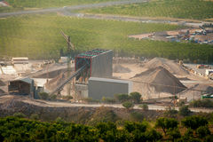 Arid crushing quarry in Castellon province Stock Photos