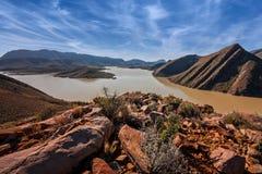 Arid desert landscape Royalty Free Stock Image