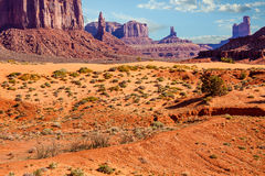 Arid Desert Landscape in Monument Valley Stock Photography