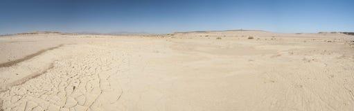 Arid desert landscape. Panoramic view of an arid desert landscape Stock Images
