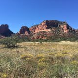 Arid desert landscape of Sedona USA Royalty Free Stock Photos