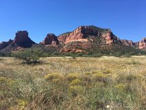 Arid desert landscape of Sedona USA Royalty Free Stock Photography
