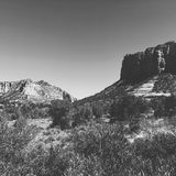 Arid desert landscape of Sedona USA Stock Images