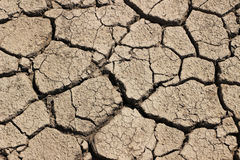 Arid  Earth,China. Arid cracked earth - China drought Royalty Free Stock Images