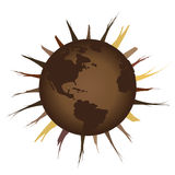 Arid Earth. Deforestation and global warming Royalty Free Stock Photos