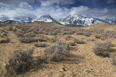 Arid foothills of Sierra Nevada mountains Stock Photos
