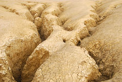 Arid ground / cracked land Royalty Free Stock Photography