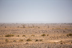 Arid and hot day in the desert of Sahara, Tata Royalty Free Stock Images