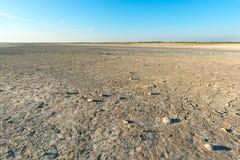 Arid lagoon landscape Stock Image