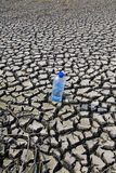 Arid land and mineral water Stock Image