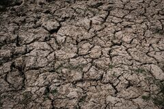 Arid land without water from global warming