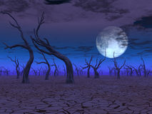 Arid Lands. Desert Scene on alien world Stock Photos