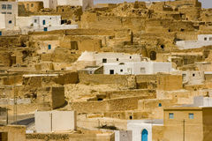 Arid landscape. Near Sahara Desert, tunisian village Royalty Free Stock Photography