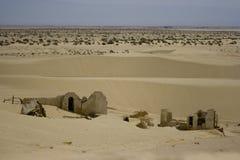Arid landscape. Near Sahara Desert, ruins Stock Photography
