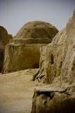 Arid landscape. Near Sahara Desert, ruins Stock Photos
