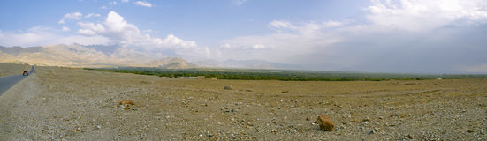Arid landscape in Afghanistan. Scenic panorama of arid landscape around Kabul in Afghanistan Stock Photo