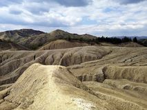 Arid Landscape At The Mud Volcanoes Royalty Free Stock Image