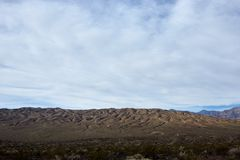 Arid landscape in the badlands of Death Valley royalty free stock photo