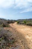Arid Landscape. At Boca Tabla, Shete Boka National Park Royalty Free Stock Image