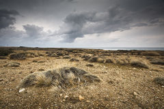 Arid landscape in Crete, Greece. Royalty Free Stock Images