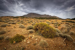 Arid landscape in Crete, Greece. Stock Image