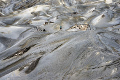 Arid Landscape Defined by Volcanic Eruption at Mt. Bromo stock photo